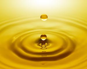 Golden water drop