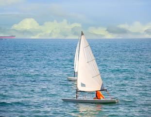 Laser sail boats