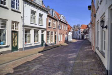 Dutch street in Amersfoort, Holland