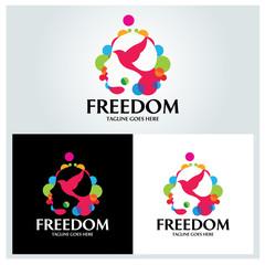 Freedom mind logo design template. Vector illustration