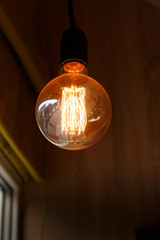 Thomas Edison Bulb on the dark background