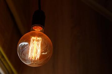 Thomas Edison Bulb on the dark background
