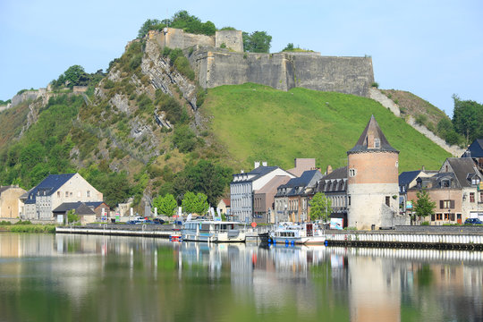The medieval Citadel of Givet in Ardennes, France