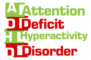ADHD - Attention Deficit Hyperactivity Disorder Red Green Stripes