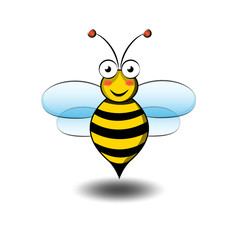 Cute bee cartoon vector illustration