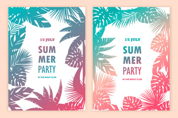 Set of beautiful tropical banners.