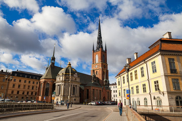 The Riddarholm Church is the burial church of the Swedish monarchs, located on the island of Riddarholmen, close to the Royal Palace