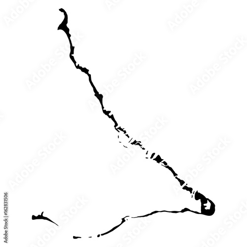 Tarawa Atoll Kiribati Black Map On White Background Vector Stock - tarawa atoll map
