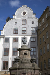 Building Facade and Fountain; Stortorget Square; Gamla Stan - City Centre; Stockholm