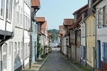 hafenviertel und altstadt in flensburg