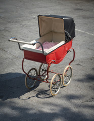 Unattended Antique Baby Carriage