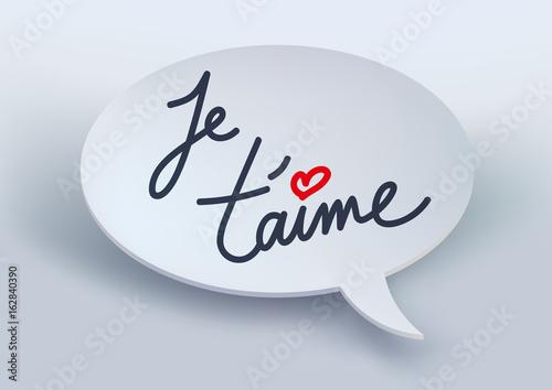 Je Taime Déclaration Amour Amoureux Cœur Message