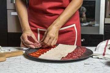 Unrecognizable woman preparing food