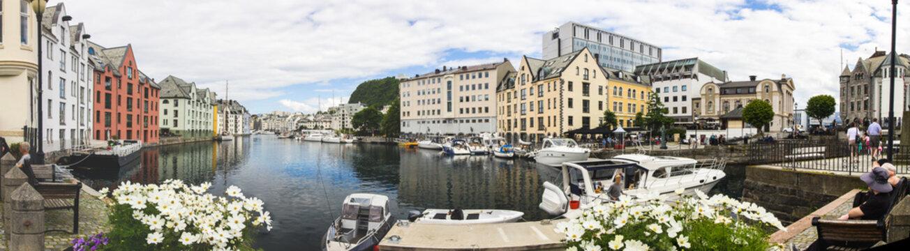 Alesund city in Norway