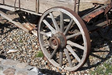 Vintage western wagon wheel.