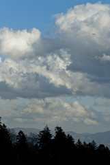 Clouds, Winter Landscape, Great Smoky Mountains NP