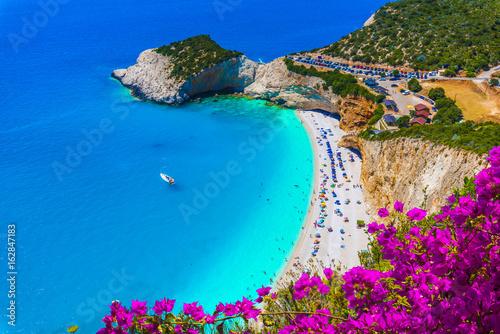 Wall mural Porto Katsiki beach on the Ionian sea, Lefkada island, Greece.