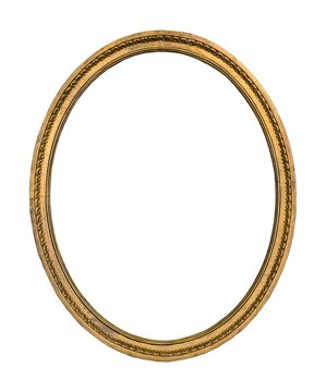 Gold frame for paintings, mirrors or photos or background