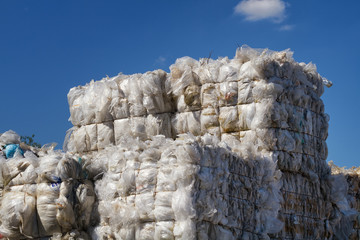 Plastikfolien auf Recyclinghof