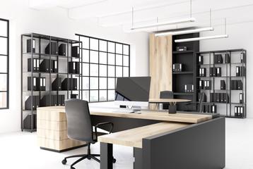 Original table CEO office interior side closeup