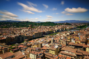 Florence during summer day, Florence, Italy