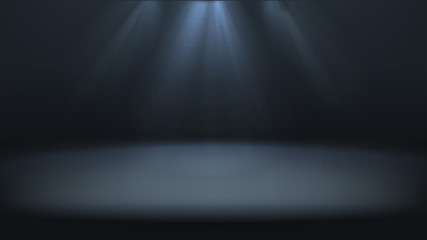Dark gray empty studio room background with lighting