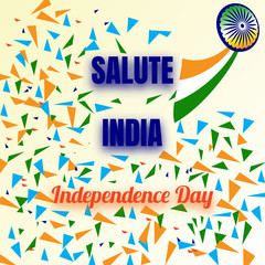 Independence Day of India. 15 th of August , Background, poster or postcard. For design