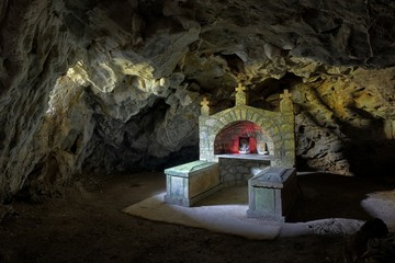 Cave-Church In Ovcar Banja, Serbia