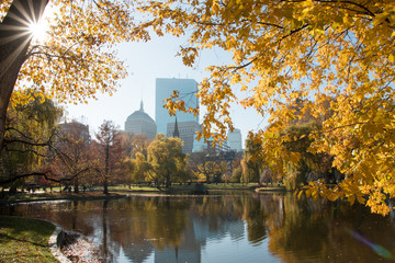 Boston Common Autumn Day