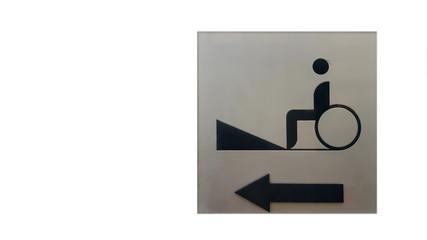 Cripple Sign on Metal Texture
