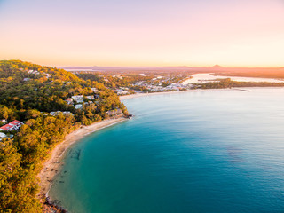 An aerial view of Noosa on Queensland's Sunshine Coast in Australia Wall mural