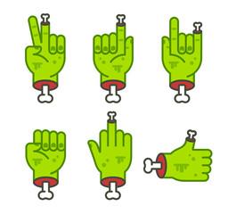 Zombie hand set
