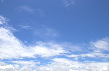 blue sky with clouds can use background.