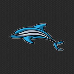 Dolphin logo icon vector design template