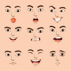 Different facial expressions of human