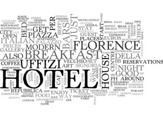 A DAY IN FLORENCE BETWEEN FOOD AND ART TEXT WORD CLOUD CONCEPT