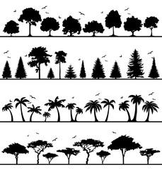 Silhouette Wälder