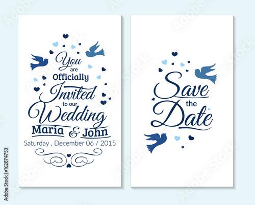 Wedding Invitation Thank You Card Save The Date Card Wedding