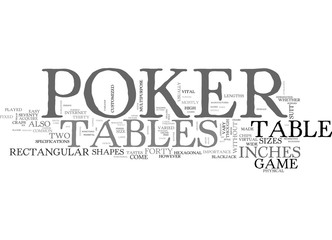 A GUIDE TO POKER TABLES TEXT WORD CLOUD CONCEPT