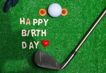 Happy birthday to golfer
