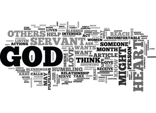 A SERVANT S HEART TEXT WORD CLOUD CONCEPT