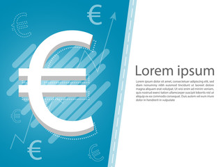 euro money business graph background vector