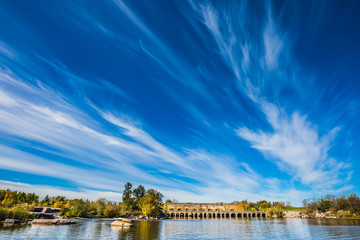 Clouds over river Winnipeg