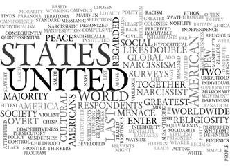 AMERICA THE DICTATORSHIP TEXT WORD CLOUD CONCEPT