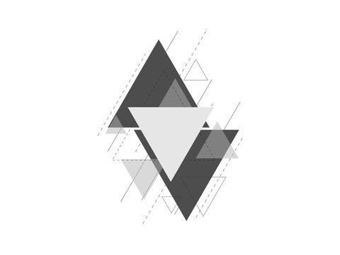 minimal geometric triangle design background vector