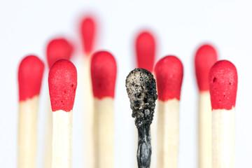 Burnout, in der Mitte