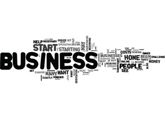 ARE YOU READY TO START YOUR OWN HOME BUSINESS TEXT WORD CLOUD CONCEPT
