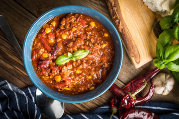 Mexican chili con carne.