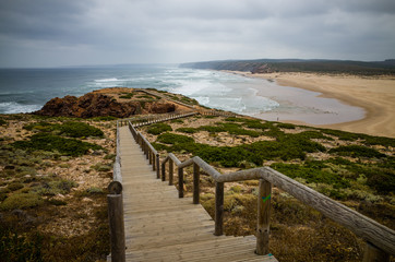 Rough westcoast of Portugal