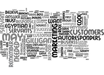 AUTORESPONDERS IN THE ROLE OF SERVANT TEXT WORD CLOUD CONCEPT